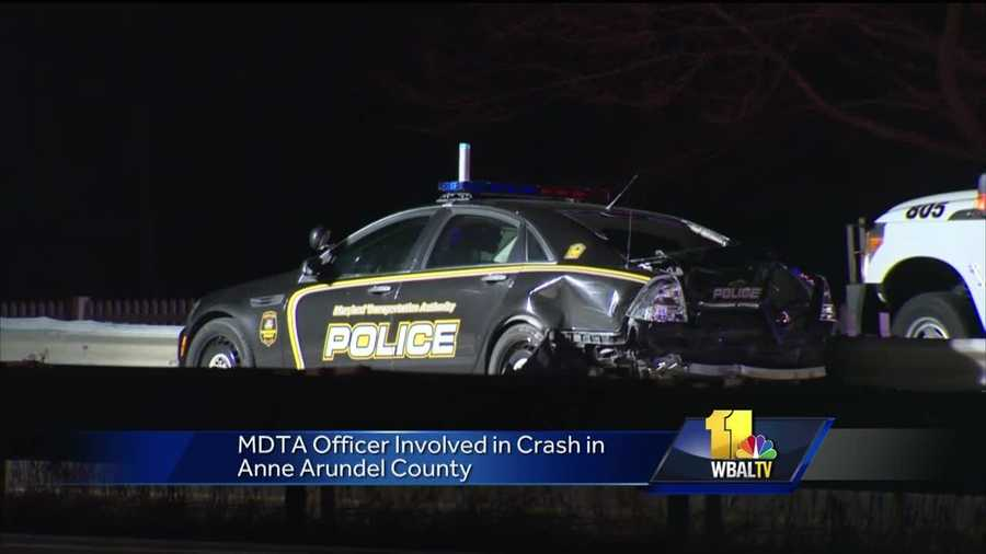 A Maryland Transportation Authority police officer was struck Tuesday evening on U.S. Route 50 in Anne Arundel County, officials told 11 News.