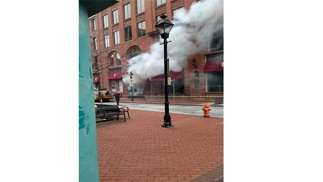Baltimore fire crews responded to the 400 block of Redwood Street for an electrical fire.