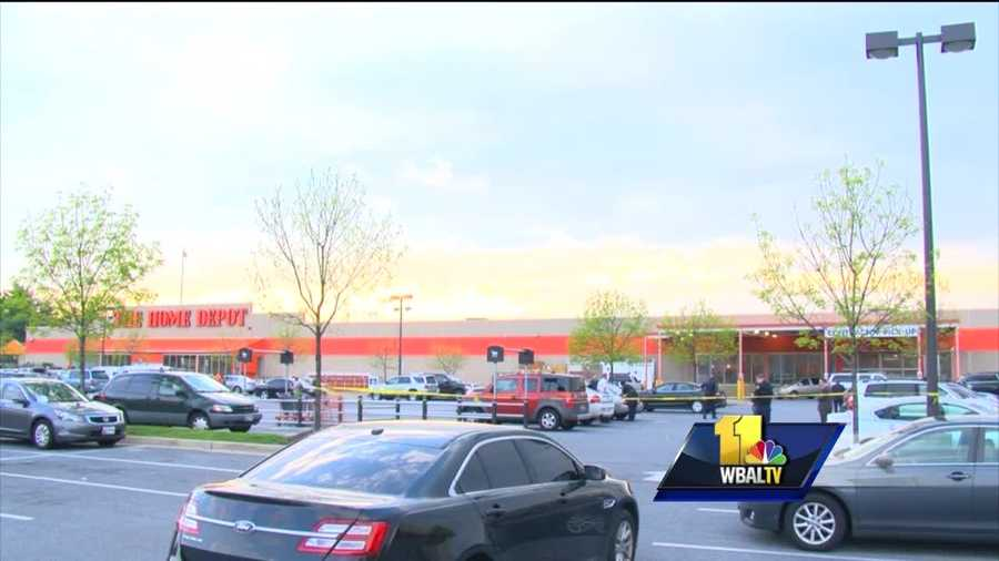 City police said an argument outside the Home Depot Tuesday led to a deadly shooting in northwest Baltimore.