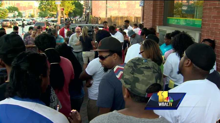 The family of a man killed over the weekend in Fells Point held a vigil Wednesday evening to celebrate what they acknowledge was a short life.
