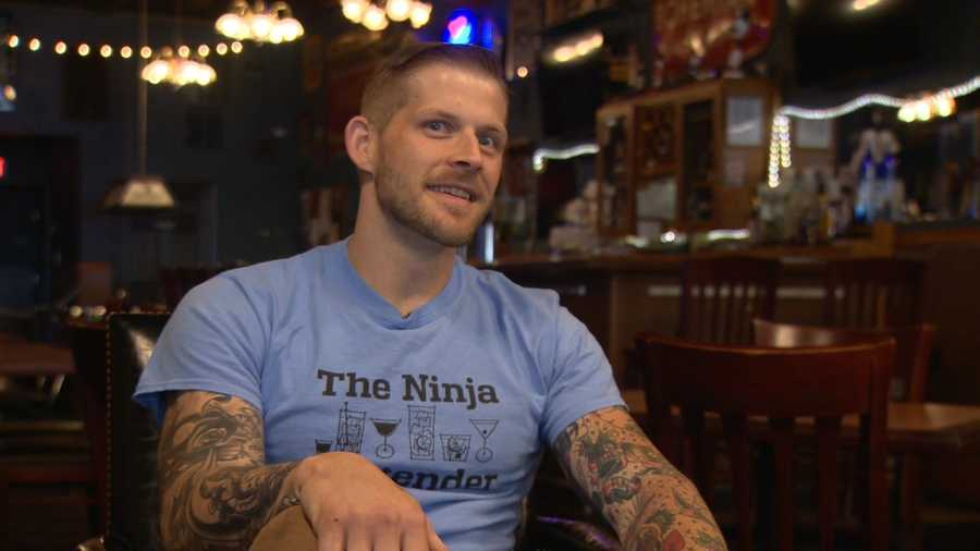 "Baltimore bartender Jason Hammonds will appear on Monday's episode of ""American Ninja Warrior."""