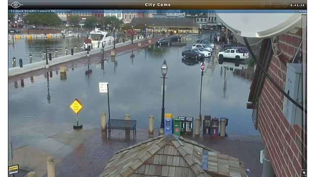 Concerns over flooding led to some road closures Wednesday morning in Annapolis.