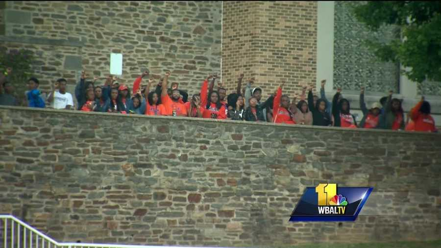 Several fans at Saturday night's Morgan State University football game joined in a protest against the national anthem and took a knee before the game. Instead of tailgating before the game, Morgan State students were working on a plan to protest.