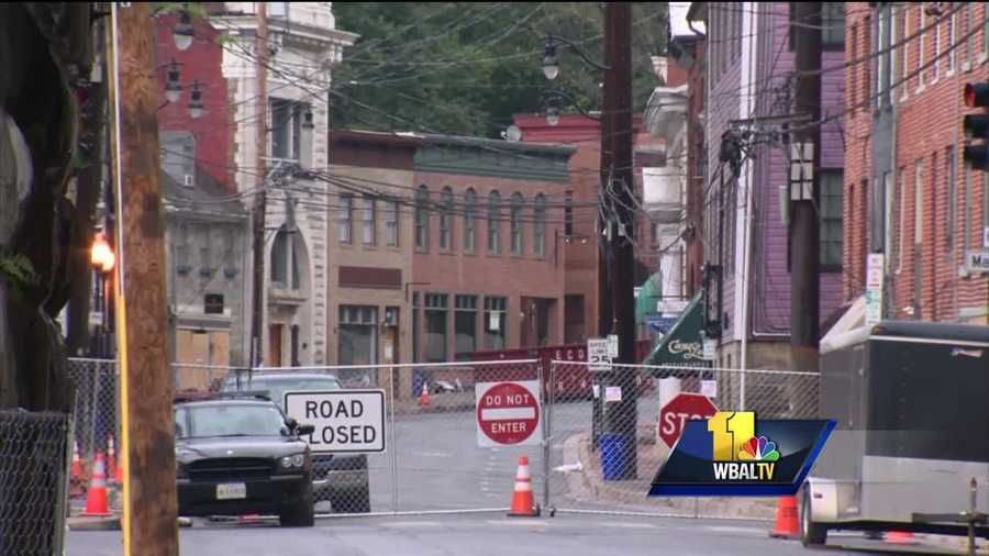 People in Ellicott City spent Wednesday putting sand bags around historic Main Street with hopes that the flooding that happened in July doesn't repeat. It rained on and off Wednesday in Ellicott City, making some people very nervous with as much as 4 to 6 inches of rain in the forecast through the end of the week.