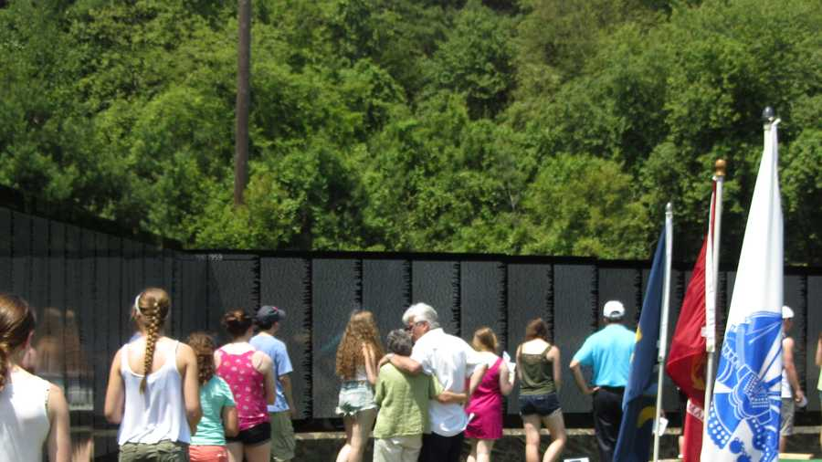 A  252-foot-long half-size replica of the Washington, D.C., Vietnam Veterans Memorial is on display in Medway.