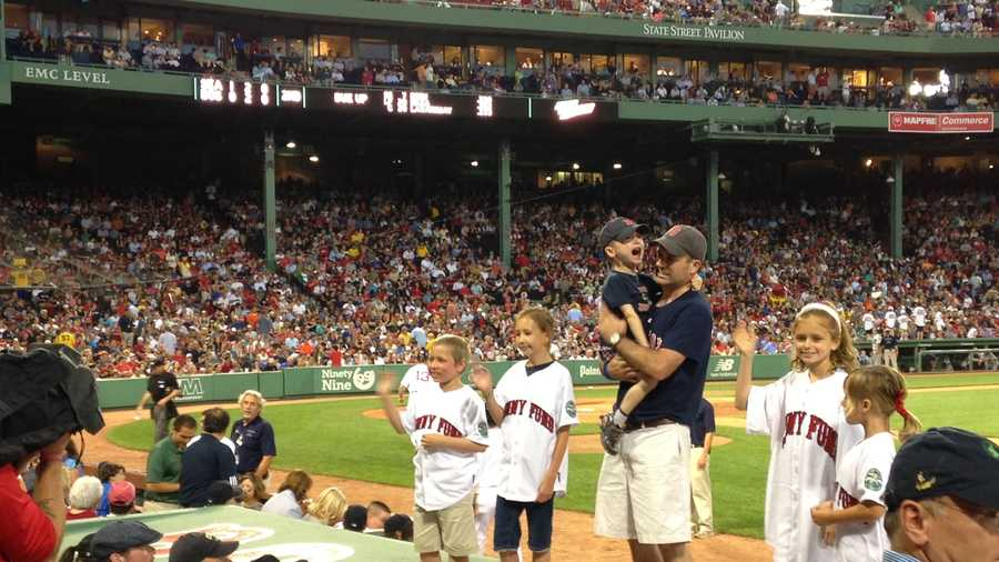 Fans got the chance to meet Francesca as she stood on the Sox' dugout during the opening ceremony.