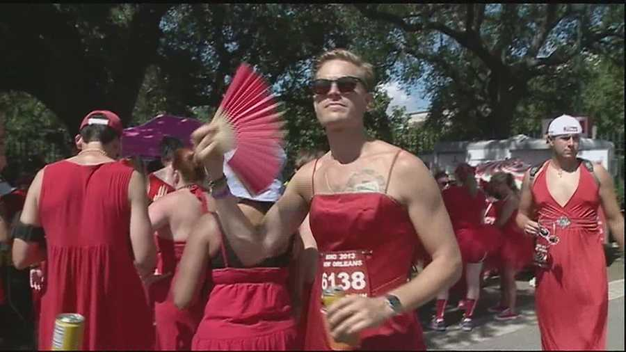 Thousands of men and woman supported great causes by participating in the Red Dress Run