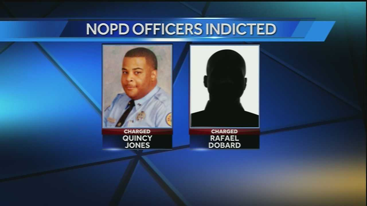 "According to a news release from the U.S. Attorney's Office, Rafael Dobard, 39, and Quincy Jones, 33, conspired to ""enrich themselves and others by obtaining N.O.P.D. confidential informant funds by fraud, and by corruptly making payments to other officers in their unit."""