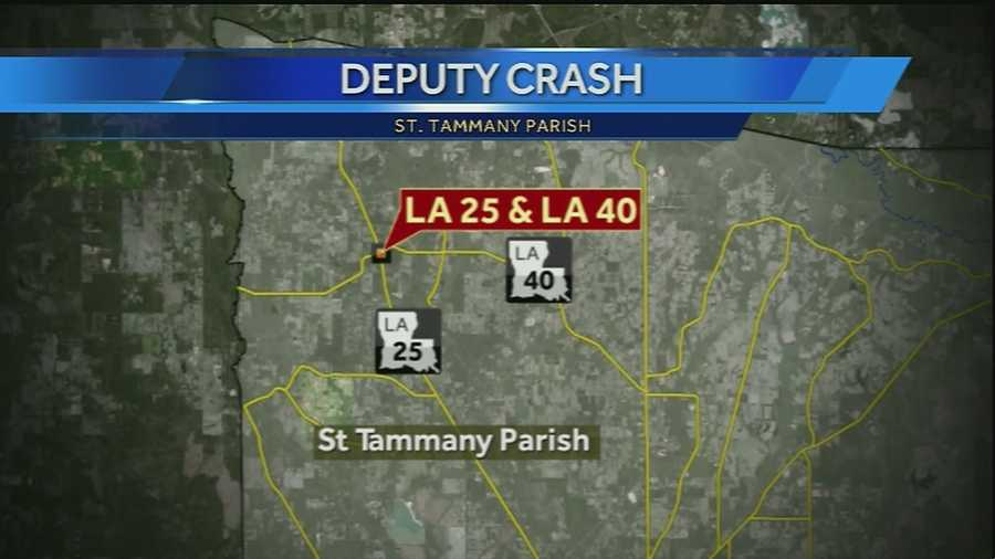 A deputy was listed in critical condition after an early-morning crash in St. Tammany Parish.