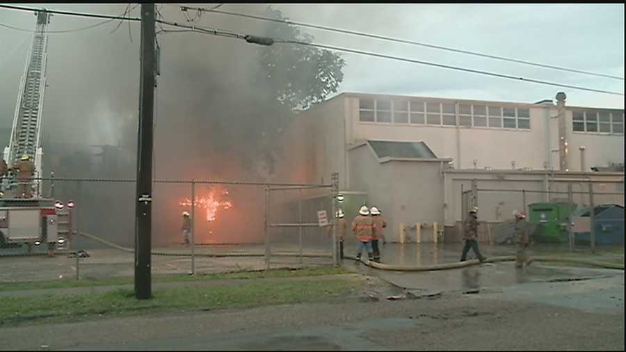 An early-morning fire and small explosion in the Treme area destroys an apartment home.