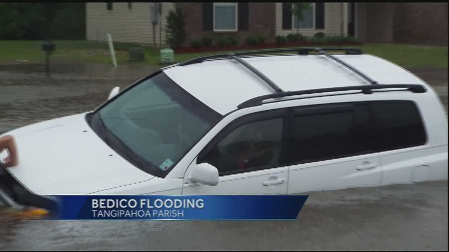 When torrential rains started falling over the weekend, residents in Bedico took pictures of a flooding problem in their subdivision and are asking the parish to help.