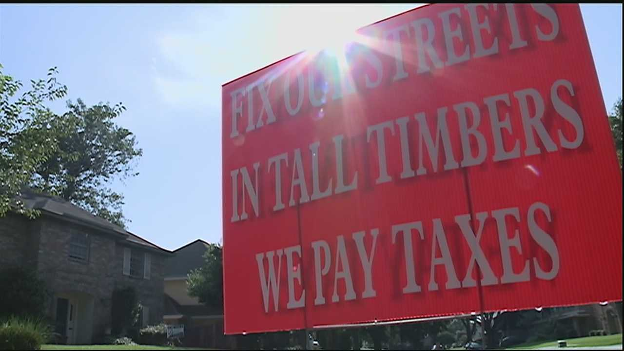 Lakeview and Bocage residents have complained about their road conditions and now the Tall Timbers neighborhood is joing the fight for repairs.
