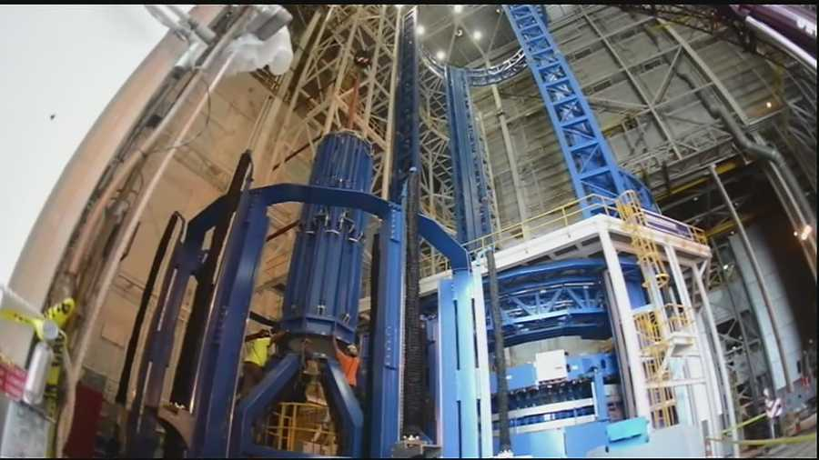 A massive structure described by NASA as the world's largest spacecraft welding tool has been completed at the Michoud Assembly Center in New Orleans, which was chosen in 2011 to build components of a major new rocket system.