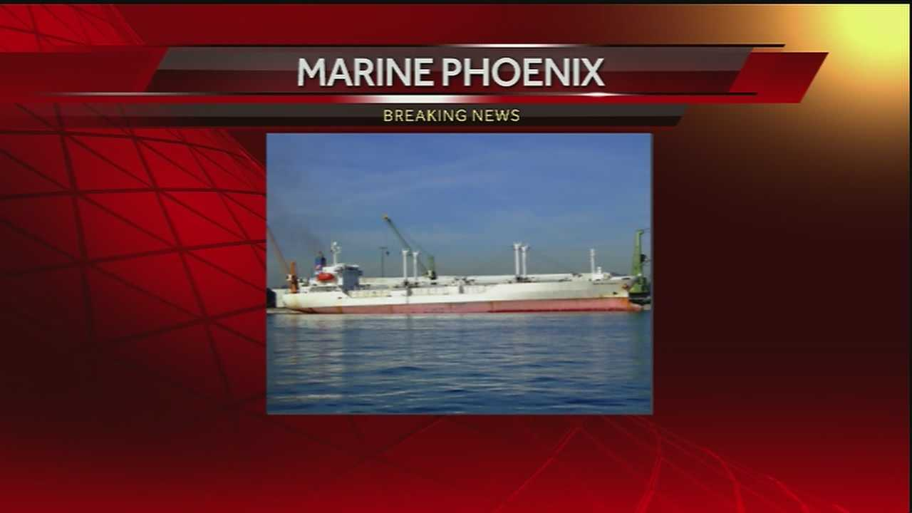 The Marine Phoenix is a refrigerated cargo vessel flagged out of the African nation of Liberia. The 20-year-old ship weighs more than 7,000 tons and has more than 400 cubic feet of space.