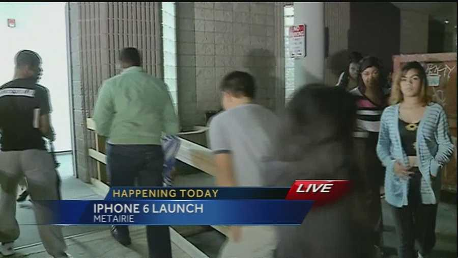 Buyers streamed into the mall for the launch of the new iPhone in Metairie.