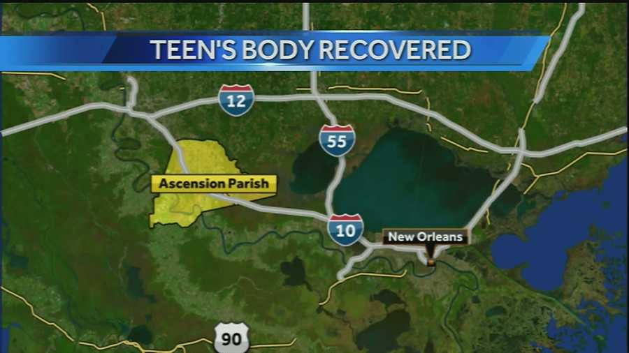 The 17-year-old was found in a neighborhood pond in Geismar.