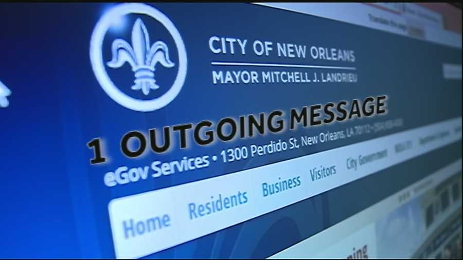 During the three-month period examined by the WDSU I-Team, Landrieu sent one outgoing email from his city-issued account.