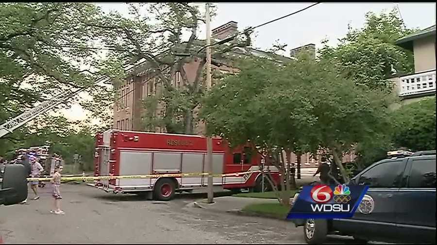 Officials at the New Orleans Fire Department said lightning might have started the fire at the historic building on Camp Street.