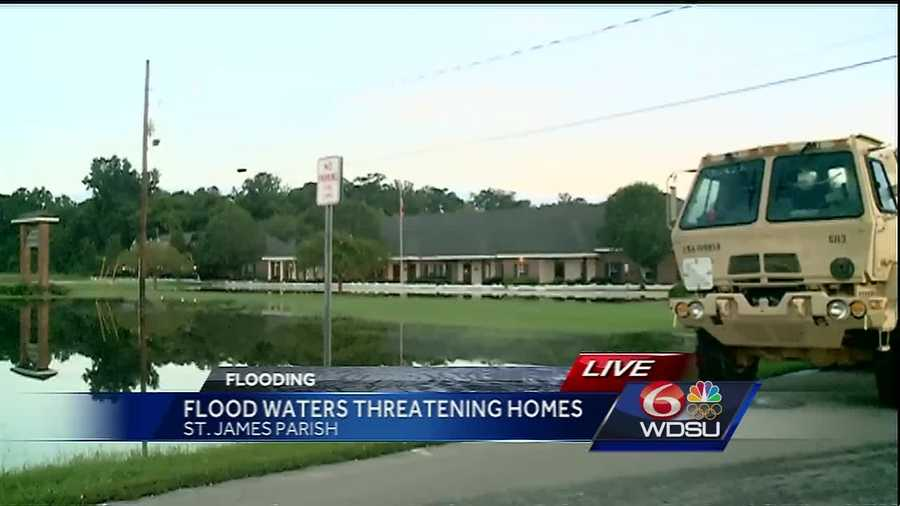 As some residents in St. James Parish work to keep floodwaters out of their homes, officials and other residents continue to monitor water levels.