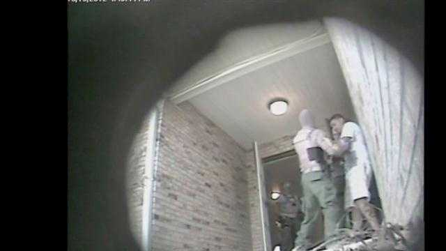 Video of several takedowns in an online sex sting is released.