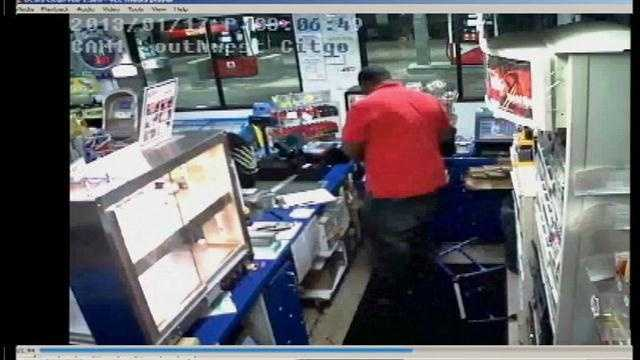 Ocala police just released surveillance video they are hoping will help them catch a man who robbed a local gas station.