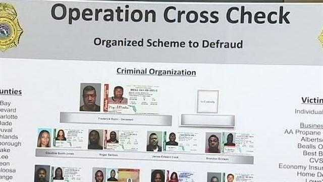 After a year-long, multi-county investigation, 17 people are accused of defrauding local retail stores of merchandise by using false checks.