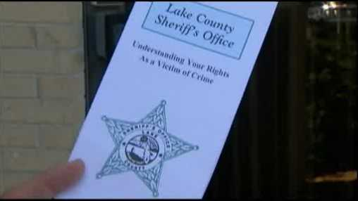 Lake County Sheriffs pamphlet wrong number