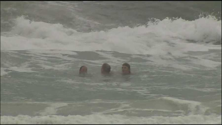 Rain and wind is creating rough beach conditions in Volusia County.