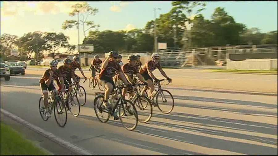 A dozen cyclists returned to Longwood on Sunday after a 250-mile extreme bike ride.