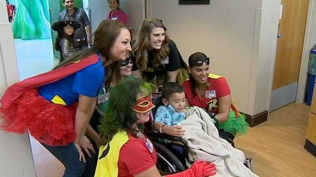 Nurses, staff and patients dressed up on Thursday for a special Halloween at Arnold Palmer Hospital.