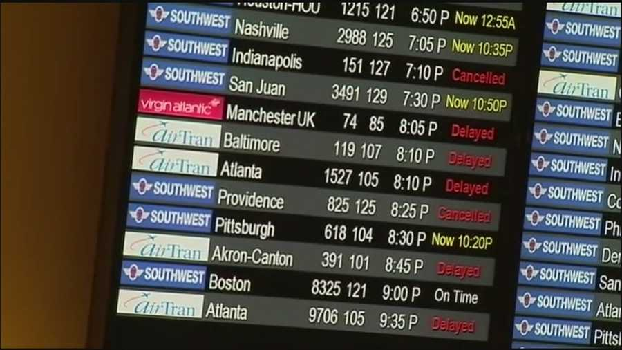 A massive snow storm in the Northeast is causing significant delays for passengers at Orlando International Airport.