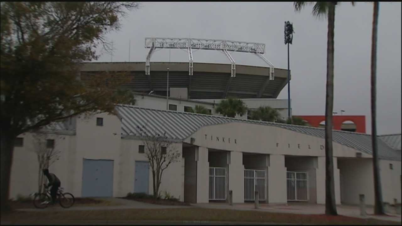 Critics of a plan to demolish historic Tinker Field want the county to step up to the plate and stop it.