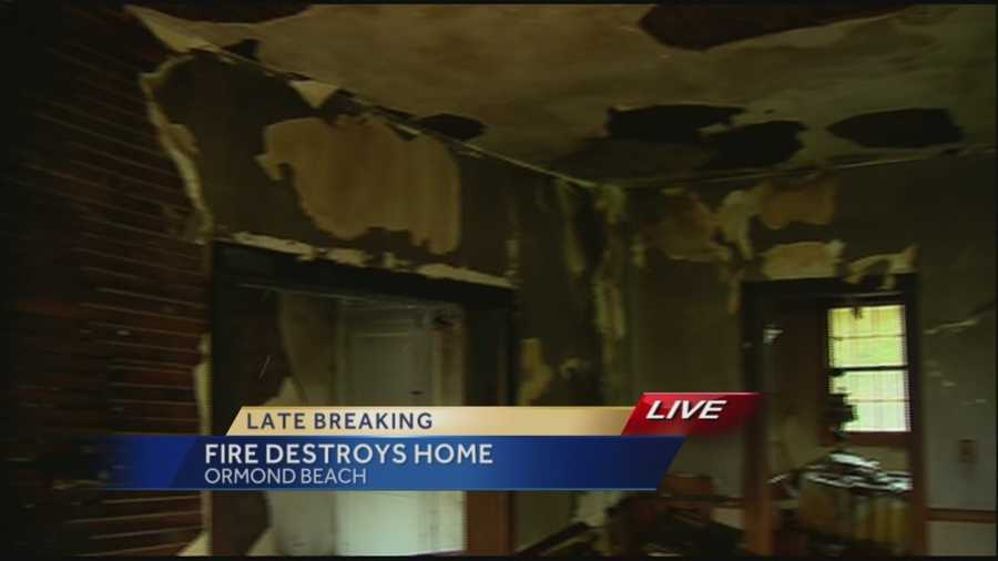 An Ormond Beach family is safe after a fire destroyed their home.