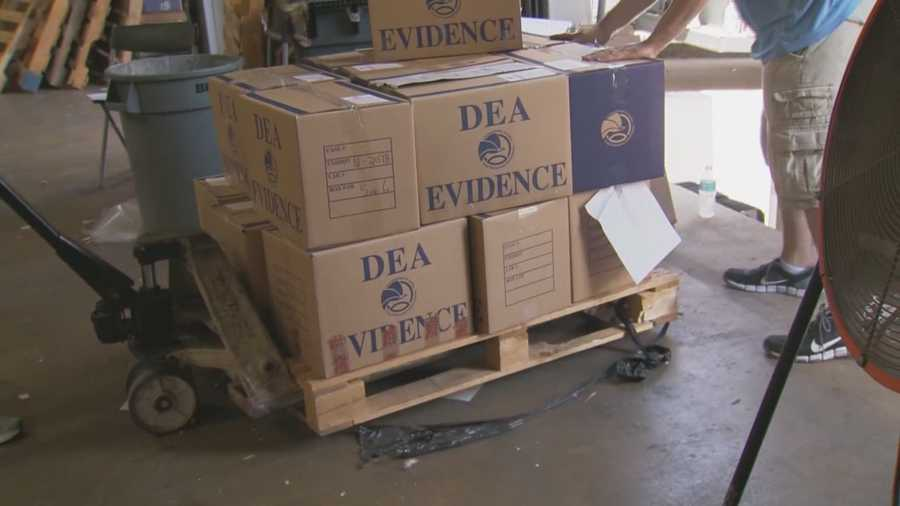 Drug Enforcement Administration agents raided an Orange County warehouse Thursday where they say the owner sold millions of dollars in drug paraphernalia.