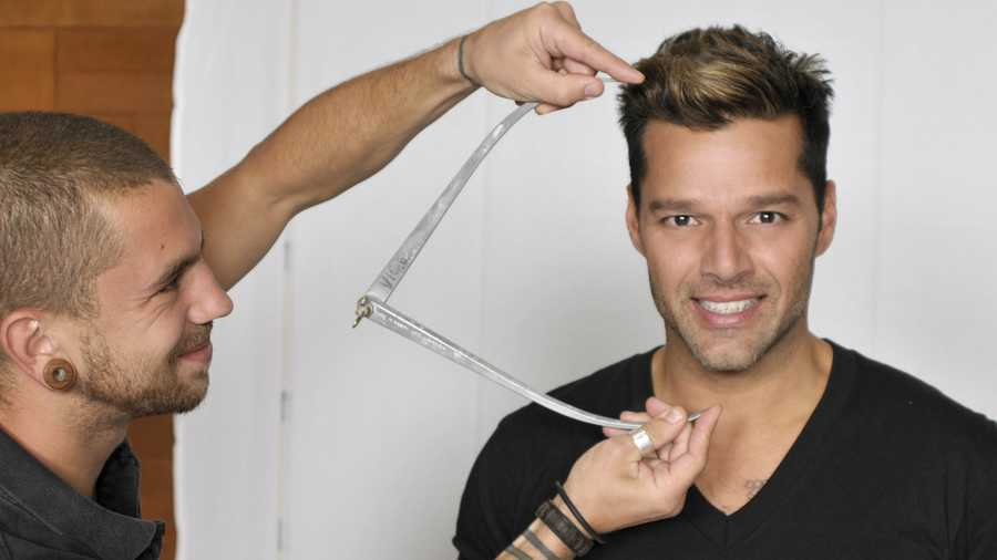 Ricky Martin meets Madame Tussauds sculptors as they take more than 500 measurements; select hair and eye color and discuss fashion choices for his new figure, which is set to launch in Las Vegas ahead of the 2014 Latin Grammys.