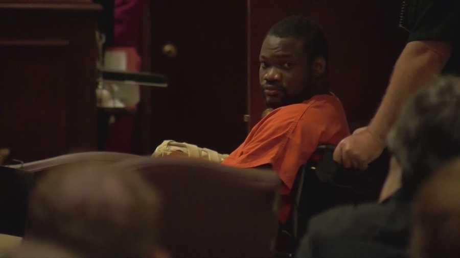 The man accused of holding a woman at knife point in Daytona Beach, forcing officers to shoot him, pleads no contest in court on Wednesday. Adrian Whitsett (@AdrianWhitsett) has the story.