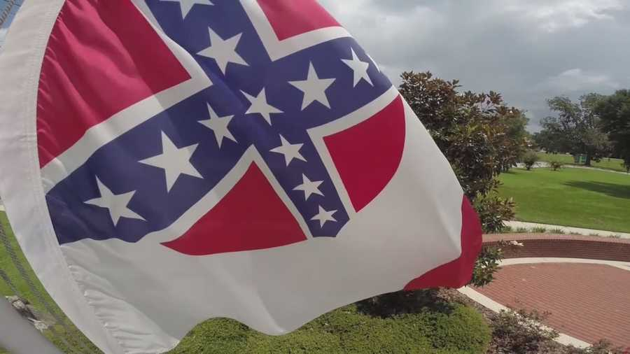 Once the symbol of southern defiance, the Confederate flag is at the center of debate in Central Florida. The flag is flying at the Fallen Officer Memorial in front of the McPherson Government Complex in Marion County.
