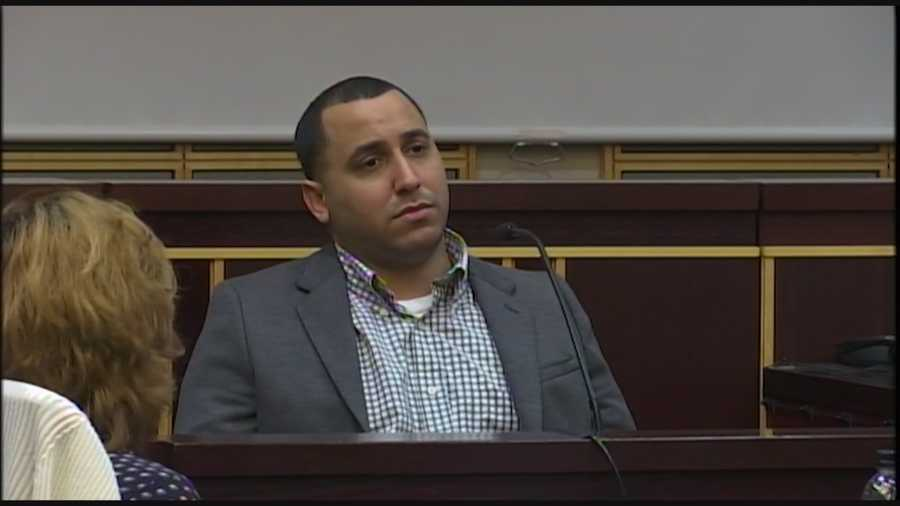 An Orange County man accused of killing his fiancee is fighting to clear his name. John DeJesus took the stand in his own defense on Thursday. Greg Fox (@GregFoxWESH) has the story.