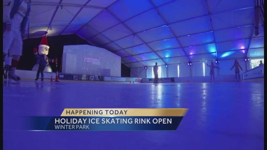 "Winter Park is opening the city's annual holiday ice skating rink. It's part of ""Winter in the Park."" Guests can also enjoy holiday movies, music and games nearby."