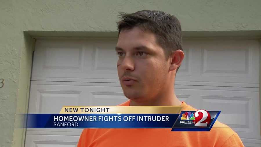 An armed intruder makes his way into a Seminole County home with children inside. The homeowner walks us through his battle against the bad guy. He talked with WESH 2's Matt Lupoli in Sanford.