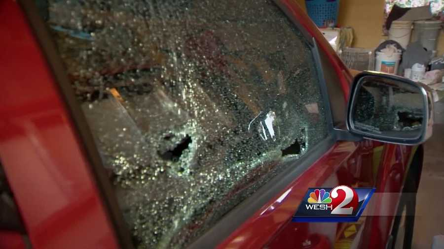 A search is underway for the vandals who left smashed a spray painted cars in an Orange County neighborhood Saturday night. WESH 2 News Reporter Matt Lupoli has the story.