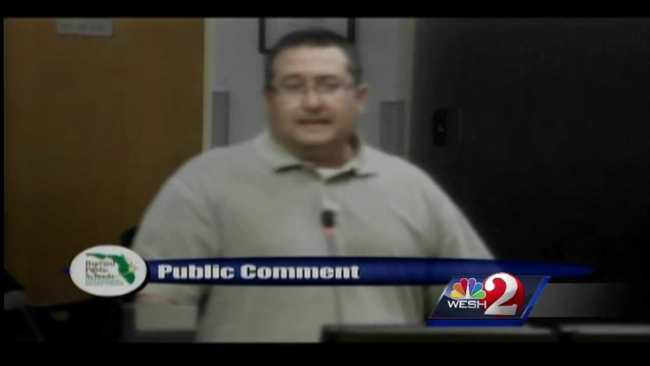 A Brevard County man arrested at a school board meeting last night says he was trying to force deputies to remove him from the meeting.