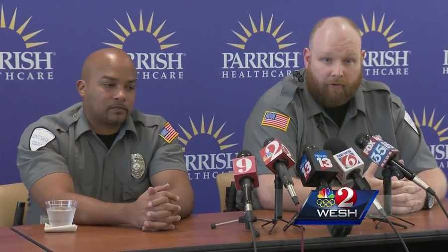 Two security guards were unarmed when they tackled the suspect of the hospital shooting in Titusville. Dave McDaniel has more on the guards that acted heroically.