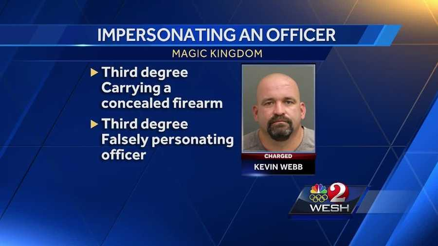 A man was arrested after being accused of trying to walk into Disney's Magic Kingdom with a gun.