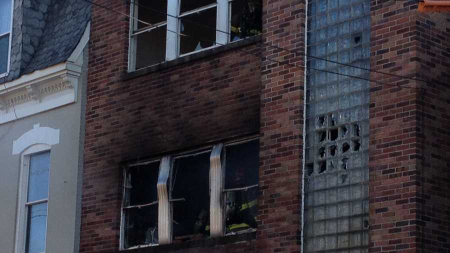 Crews fought a fire on the 500 block of West King Street in York on Wednesday afternoon.