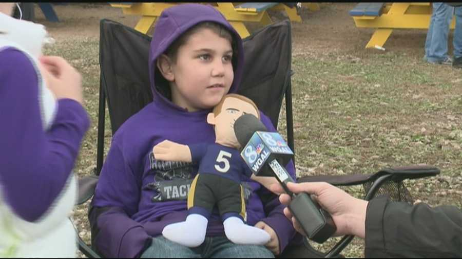 Ryan Arevalo, 7, is a linebacker on the Tri-Town Boys Club football team who's battling cancer.