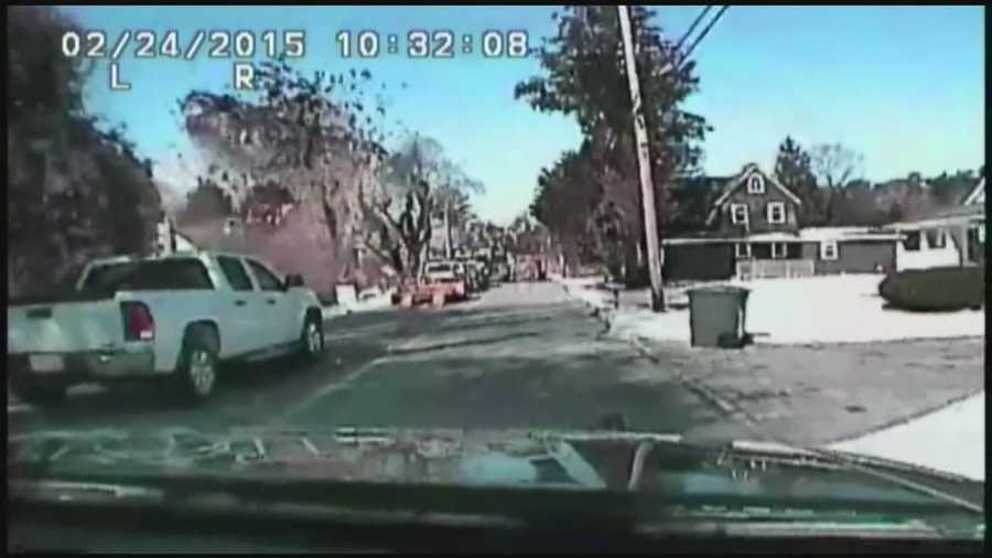 A dashcam is rolling when a New Jersey home explodes