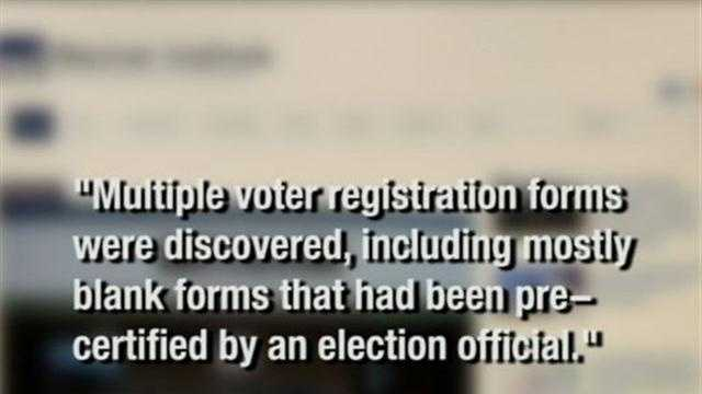 The Racine County Sheriff's department said it was investigating claims of voter irregularities on Thursday.