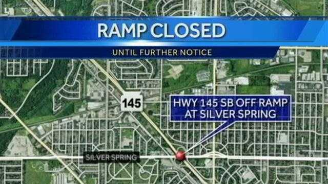 The southbound offramp from Highway 145 to Silver Spring Drive is closed indefinitely while drainage work is being performed.