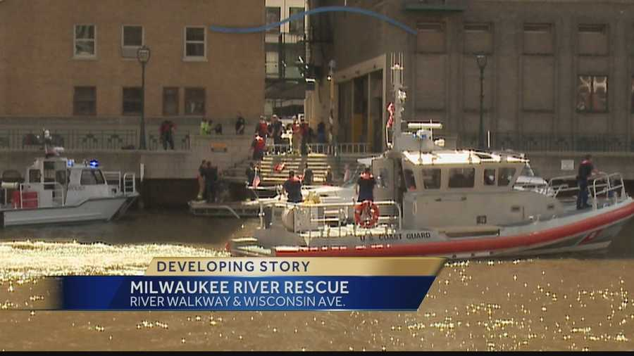 A man jumped from a bridge in downtown Milwaukee into the river Sunday.  Rescuers pulled the man from the water, but the medical examiner said he died overnight.
